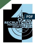 Formulir Pendaftaran Member Dan Staff Iatmi 2014