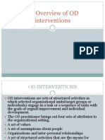 An Overview of OD Interventions