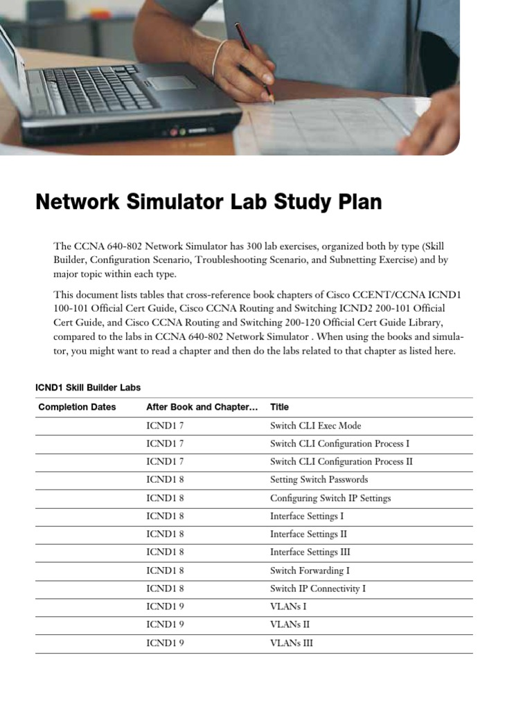 CCNA OCG 2013 Study Plan for CCNA802 Sim | Router (Computing
