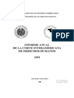 Informe Anual de La Corte IDH - 1999