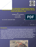Investigation of Subsurface Archaeological Features Using Ground Penetrating1