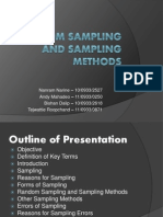 Random Sampling and Sampling Methods
