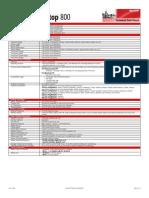 Technical Data Sheet - Wireless Desktop 800