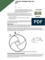 Impeller Velocity Triangles