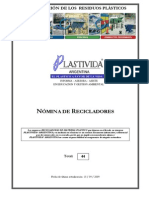 nomina recicladores