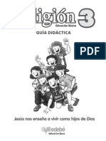 GUIA DIDACTICA DE RELIGION 3º BASICO