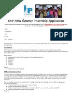 SKIP Peru Internship App