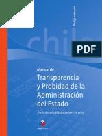 Manual de Transparencia y Probidad - Gobierno de Chile