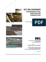 Brownfield Act 381 Guidance