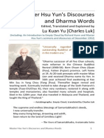 Master Hsu Yuns Discourses and Dharma Words
