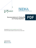 Recommendations for Testing, Managing, and Treating Hepatitis C | AASLD-IDSA