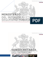 Cuenta Publica Ministerio Del Interior 2012