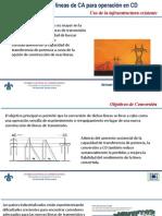 Conversion de Lineas de HVAC a HVDC Utilizando Infraestructura Existente