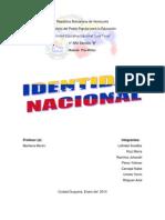 La Identidad Nacional