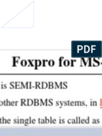 Foxpro for MS Dos