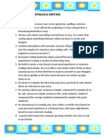 Tips for Spm Continuous Writing