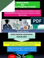 FASILITASI (Biaya PPDS beasiswa DEPKES)