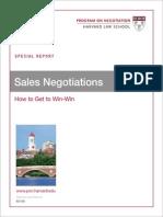 Sales Negotiation 2013