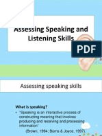 Assessing Speaking and Listening Skills