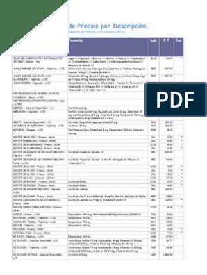 Lispahrmaprecios Compuestos Organicos Suplementos Dieteticos