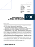 Moody Covenant Assessment Consultation (2006-09)