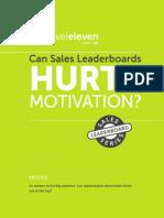 Can Sales Leaderboards Hurt Motivation eBook