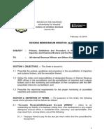 BIR Revenue Memorandum Order 10-2014