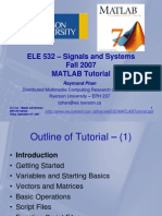 Ele532 Matlabtutorial Full