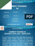 Summer Training_advance JAVA