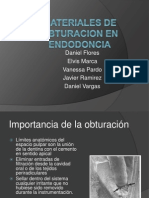 Materiales de Obturacion en Endodoncia
