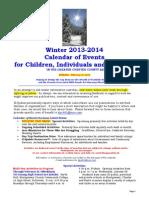 Calendar of Events - February 16, 2014
