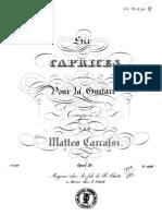 Matteo Carcassi, Op. 26. Six Caprices