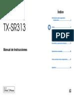 Onkyo Manual_TX-SR313_Español