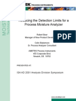 Reducing the Detection Limits for a Process Moisture Analyzer