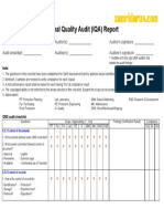 Internal Quality Audit Checklist v. 01