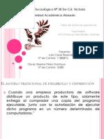 MODELO TRADICIONAL DE DESARROLLO Y DISTRIBUCION SOFTWARE