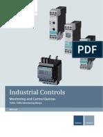 Manual for Monitoring Relays Siemens SIRIUS 3UG4 3RR2