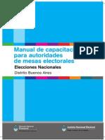 Manual de capacitación para autoridades de mesas electorales BSAS 2011