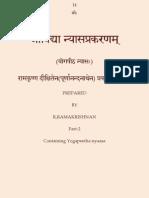 SriVidhya Nyasa Prakaranam-Part 2-Yogapeeta NyasaH