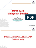 Lecture 16 - The Social Integration and National Unity