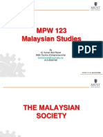 Lecture 13 - Malaysian Society
