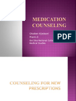 MEDICATION Counseling