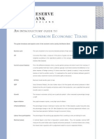 Common Economic Terms