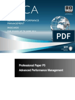 ACCA P5 - Advanced Performance Management Passcards 2013-1