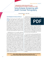 Ectasia Screening With Pentacam