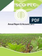 Annual Report & Accounts 2012 Presco Plc.