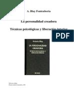 Blay Fontcuberta, Antonio - Personalidad Creadora