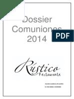 Dossier Comuniones Rustico