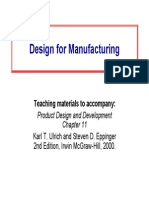Product Design and Development - Design for Manufacturing