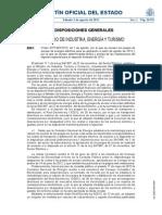 Orden IET_1491_2013_de 1 de Agosto de 2013